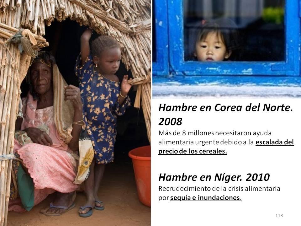 Hambruna Corea y Niger